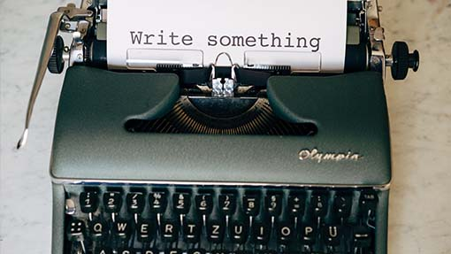 write something